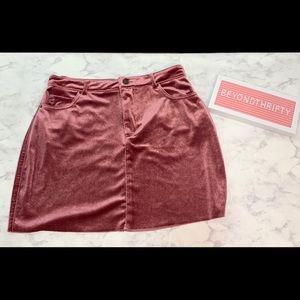 Mini velvet skirt